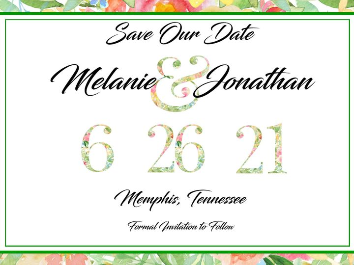 Tmx Floral Watercolor Save The Date 51 1008022 160739866950787 Indianapolis, IN wedding invitation