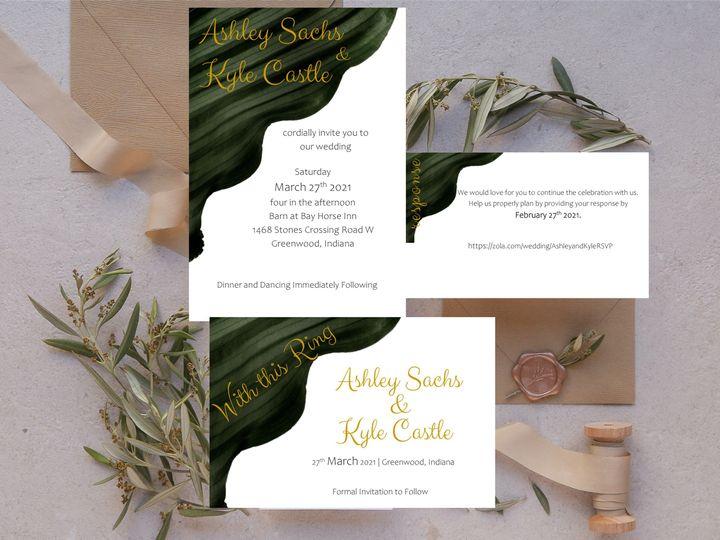 Tmx Green Apple Watercolor Invitation Suite 51 1008022 161025589544750 Indianapolis, IN wedding invitation