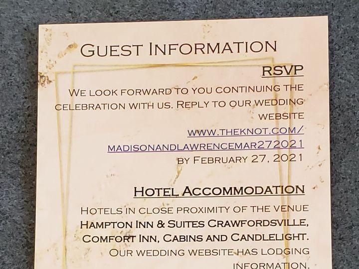Tmx Serene Love Guest Information 51 1008022 161438745289456 Indianapolis, IN wedding invitation