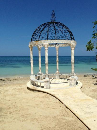 Beach wedding space