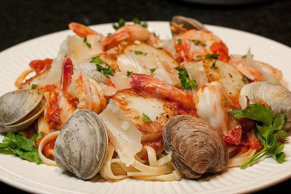 Tmx 1468885634566 Chefs Special Seafood Pasta Garlic  Olive Oil  Raleigh, NC wedding catering