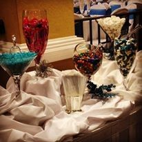 Candy buffet tables. Yum!