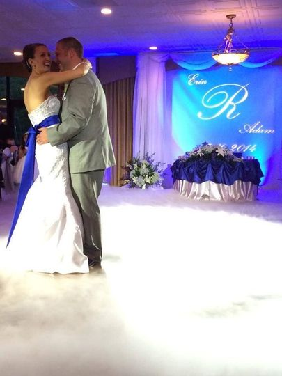 Dancing on the clouds is really special for your first dance.
