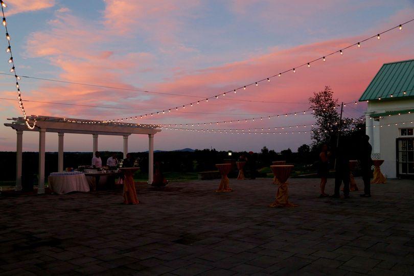 Outdoor Bistro Lighting, String lights at Raspberry Plain Manor