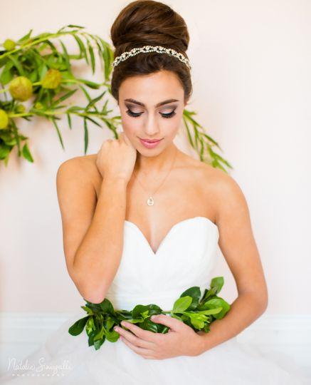 Bridal hair and hairband