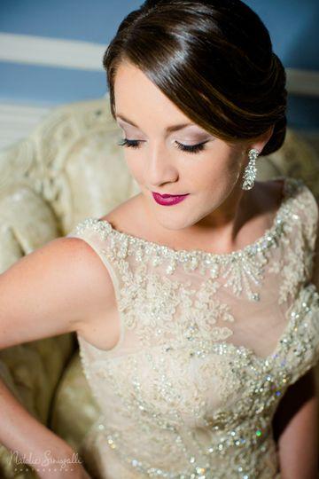 Bridal makeup and updo