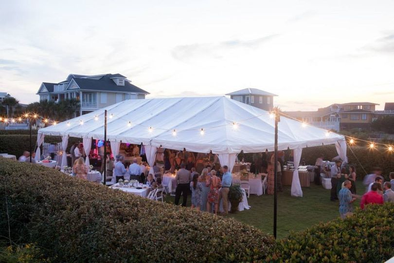 Oceanfront wedding reception in Wrightsville Beach, NC. What a fun day!