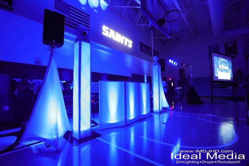 Ideal Media DJ, Lighting & Drape