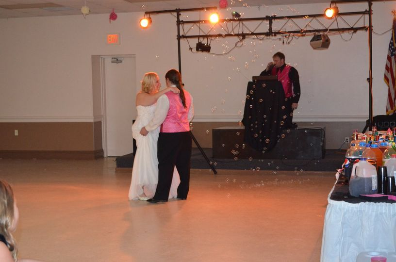 Special effects for dances: bubbles