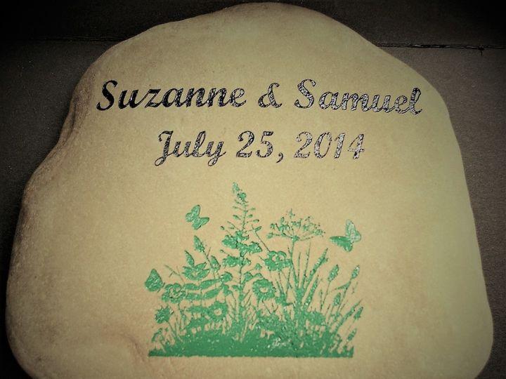 Tmx 1510846059743 Suzanne And Samuel Engraved Garden Rock Westfield wedding favor