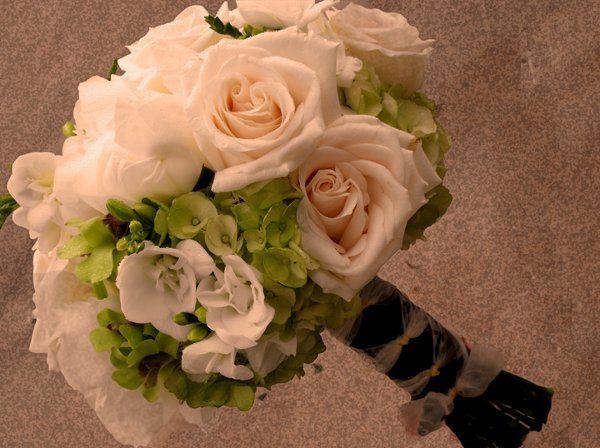Tmx 1298345701281 Creamrosegreenhydbouquet Tulsa wedding florist