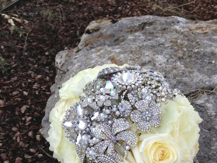 Tmx 1475539040531 Maddy White Brooch Bouquet Tulsa wedding florist