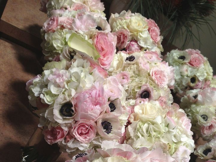 Tmx 1475539072201 All Blush Anemone Bouquets Together Tulsa wedding florist