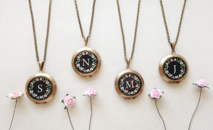 Tmx 1461856537019 Rose Wreath Monogram Lockets Jeffersonville wedding jewelry