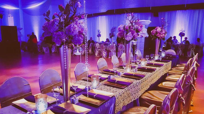vintage purple gold wedding quinceanera theme59