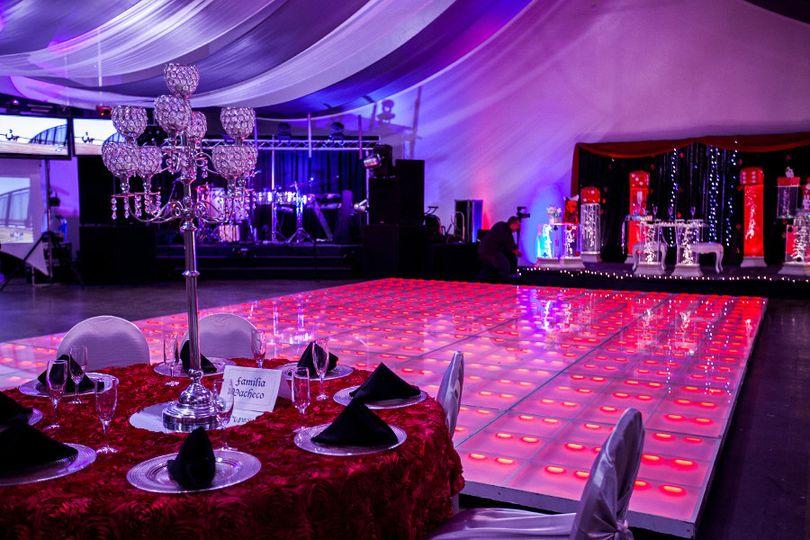lighting wedding party colors led dance floor tucs