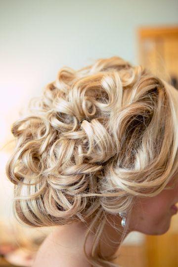 Curl updo