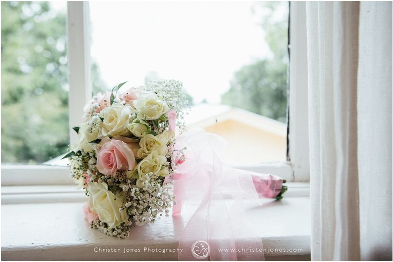 Wedding bouquet by the window