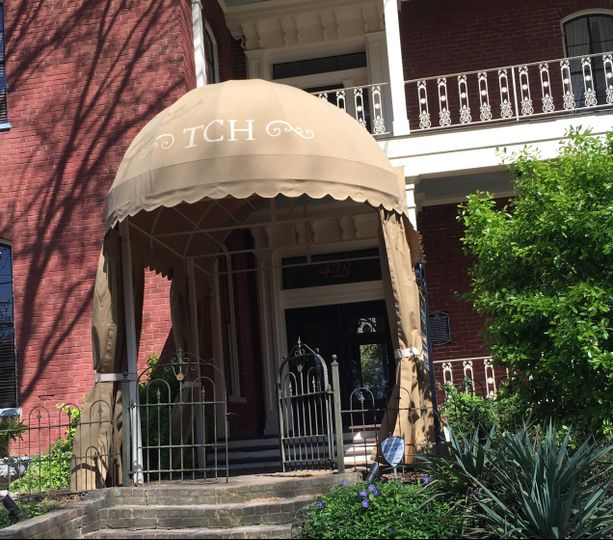 Canopied front door