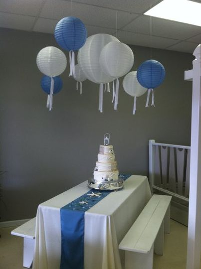 Party Lanterns, Benches and Cakes OH MY!