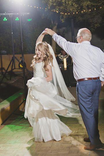 Amanda & Dad dancing