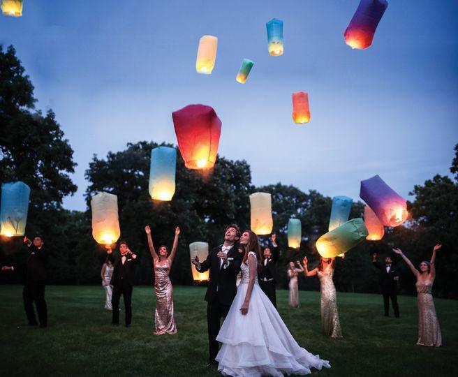 Lanterns flying