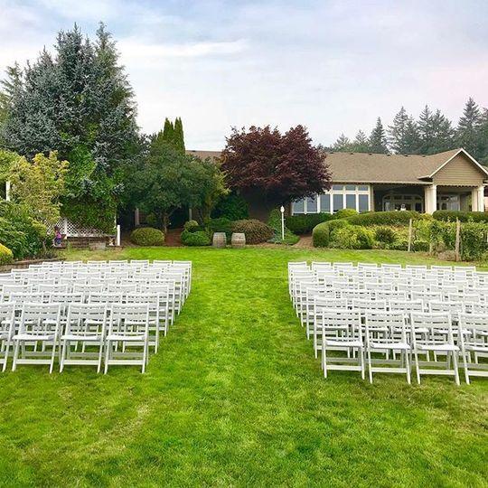 Vineyard ceremony venue