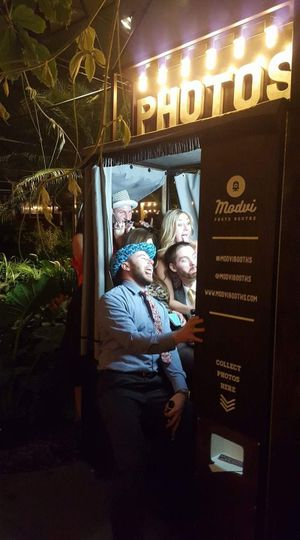 The vintage photo booth