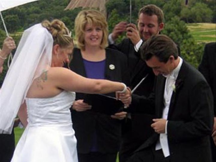 Tmx 1280724499347 BestBrandyEricSteppingonGlass1 Denver, Colorado wedding officiant