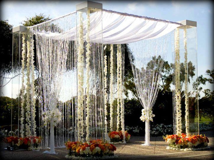 acrylic wedding arch