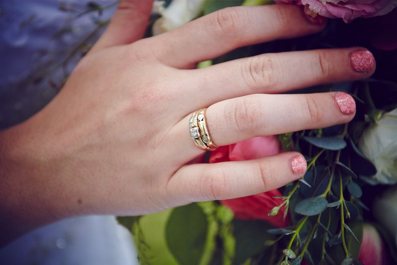 Hand with a wedding ring