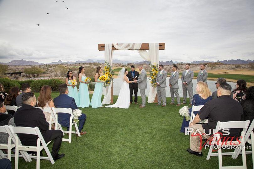 Beautiful Lawn Ceremony