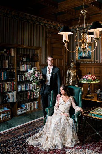 Regal wedding portrait