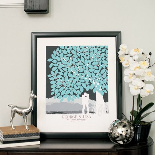Custom Wedding Tree Guestbook