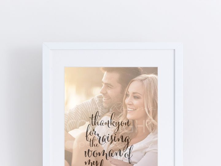 Tmx 1459803278018 W Q10 Parents Of The Bride Gift Photo Quote Art Th Trumbull, CT wedding favor