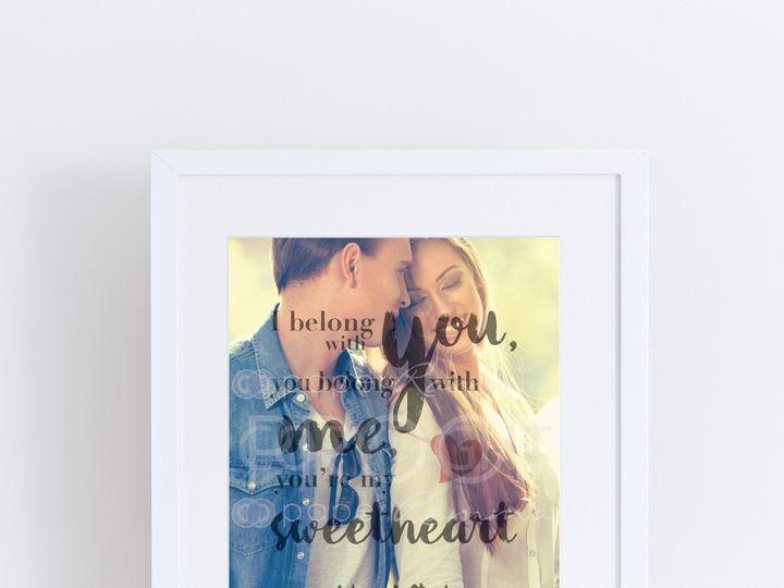 Tmx 1459812352653 H Q28 Youre My Sweetheart Photo Quoteprint Trumbull, CT wedding favor