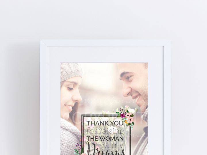 Tmx 1459812403319 W Q09 Gift From Groom Photo Quote Art Thank You We Trumbull, CT wedding favor