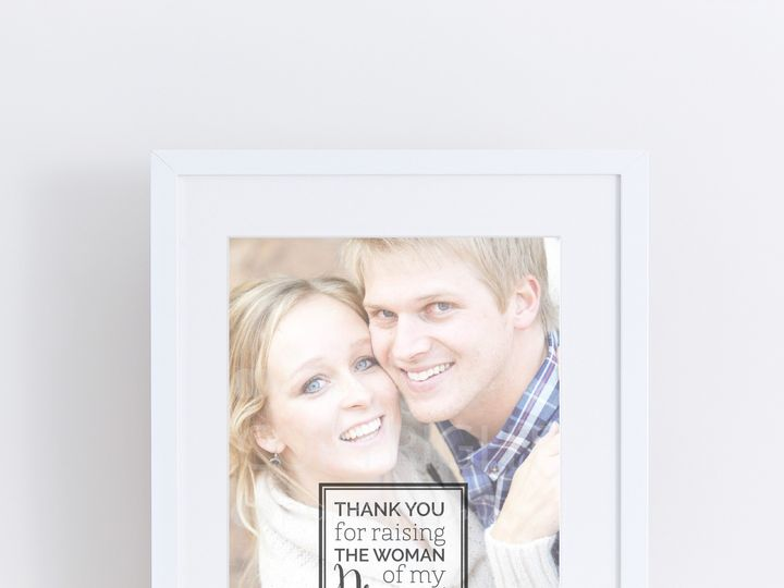 Tmx 1459812419212 W Q09 Parents Of The Brideprint Trumbull, CT wedding favor
