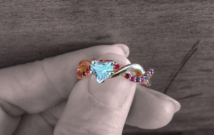 Heart Shaped Infinity Wedding Rings -  SKU - FD1122...