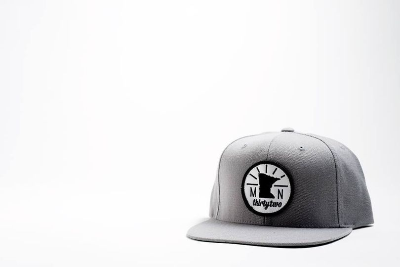 MN State Patch Snapback Hat - Gray  This makes a great gift for your groomsmen!