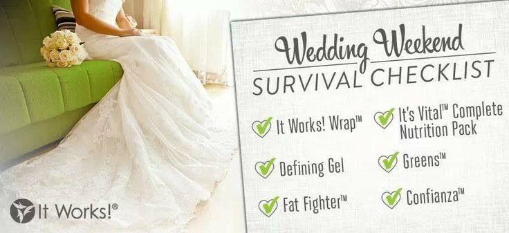 wedding survival checklist itworks
