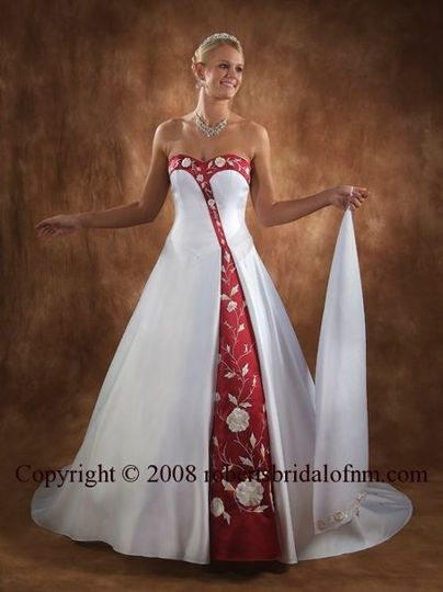 SKU: 3023 Gown   This dramatic diagonal design, strapless, A-line wedding gown with sweetheart...