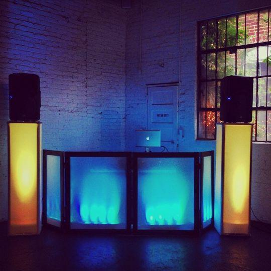 Booth and lighting