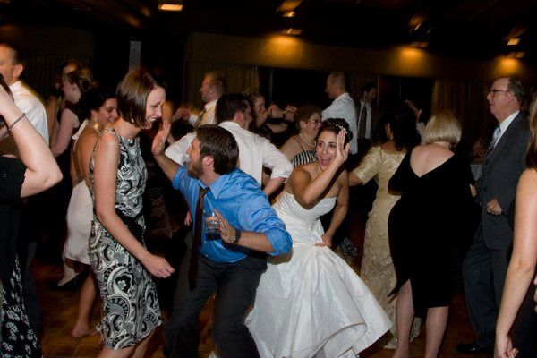 Look at the bride having fun!!