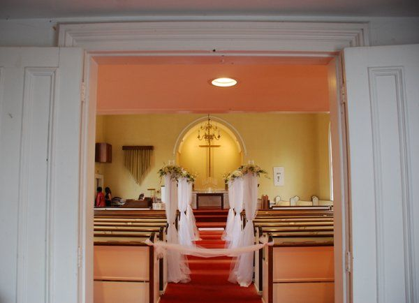 Looking into the church from the entrance