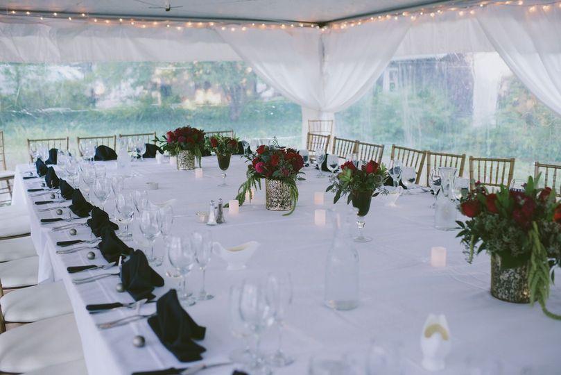 White table seutp