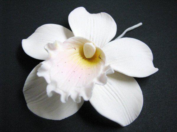 Cymbidium Orchid (Ivory) - http://www.gumpasteflowerstore.com/orchids.html