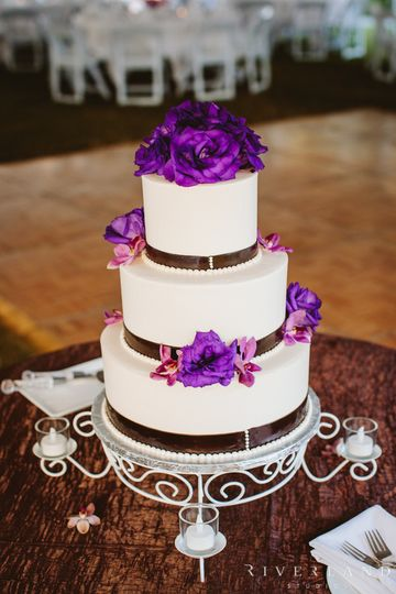 Purple flower topper