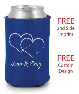 Personalized Wedding Koozies are available in many custom colors.