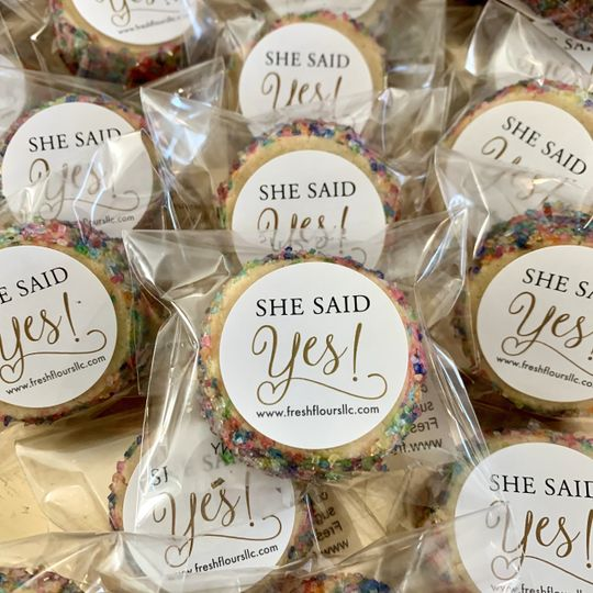 Mini engagement party favors